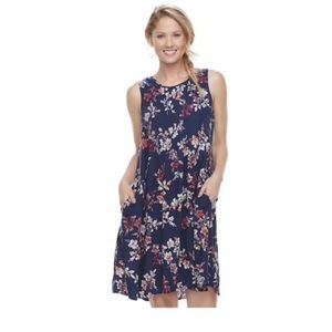 Sonoma floral pocket dress